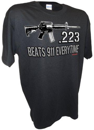 223 Caliber Assault Rifle Ar15 M16 Ak47 Colt 45 1911 Pro Guns Firearms 9mm Tee By Achtung T Shirt LLC ()