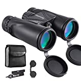 Eyeskey Hunting Binoculars for Adults | Lightweight and Compact | Fully Multi-Coated Bright Images | Waterproof Fog Proof | Roof Prism Binos for Hunters Nature Whale Watching (Black-10X42)