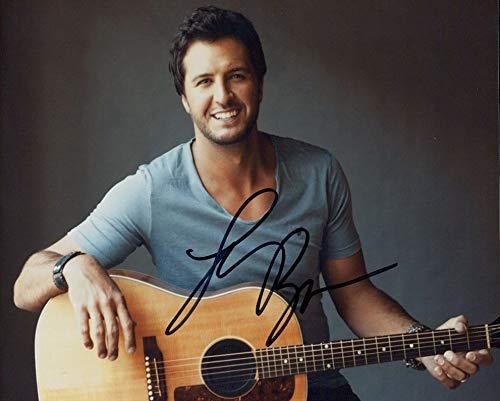 Luke Bryan signed 8x10 photo