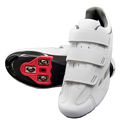 tommaso Pista Women's Spin Class Ready Cycling Shoe Bundle - White/Silver - Look Delta - 38