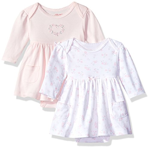 Little Me Baby Girls Newborn 2 Pack Bodysuit Dress