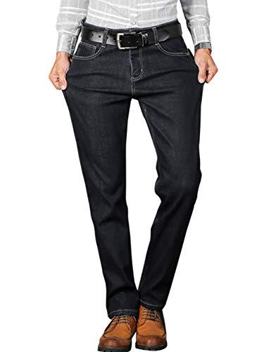 Gambe 807 Jeans Pile Uomo Foderato In Nero Dritte Cukke wZq41znRx