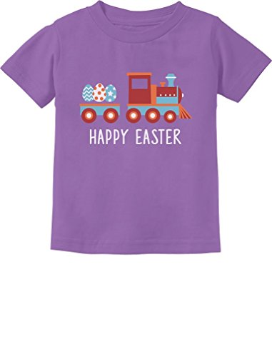 Easter Egg Hunt Kids Gift Happy Easter Train Toddler/Infant Kids T-Shirt 18M Lavender