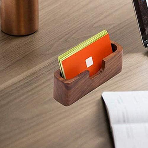ACAMPTAR 3Er-Pack Holz Visitenkartenhalter für Schreibtisch Holz Visitenkarte Organizer Case Stand