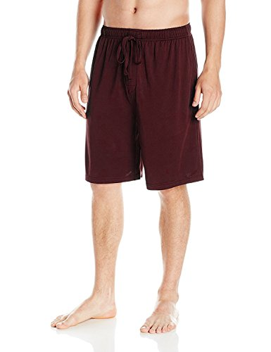 SGNOIEY Men's Sleep Shorts,100% Cotton Knit Sleep Shorts & Lounge Wear-Red S
