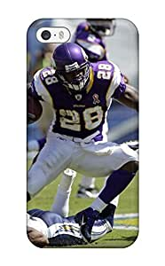 Iphone 5/5s Case Cover - Slim Fit Tpu Protector Shock Absorbent Case (adrian Peterson Football )(3D PC Soft Case)