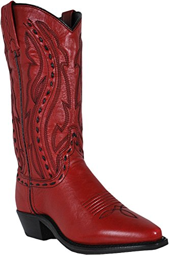 Abilene Kvinners Whipstitched Cowgirl Boot - 9002 Rød