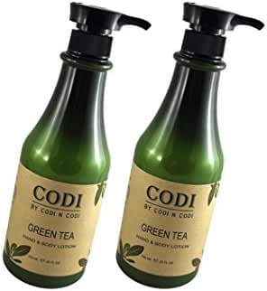 Codi Green Tea Hand & Body Lotion 750ml/25oz (pack of 2)