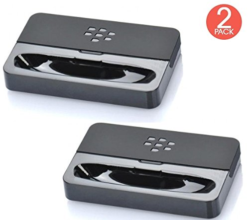 ((2x Pack) RIM Desktop Cradle Dock Charging Pod Desktop Charger for BlackBerry Bold 9900 9930 AT&T, T-Mobile, Sprint, Verizon Non Retail Packing)