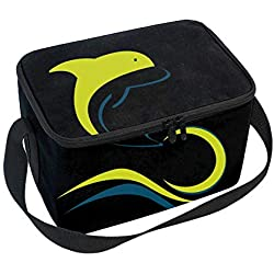 Classic Dolphin Logo Design Template Lunchbox Handbag - Easy to Carry to School, Office, Picnic