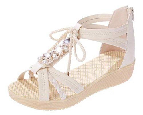 Sommer Sandalen weiblichen Studenten flache Sandalen und Pantoffeln meters white