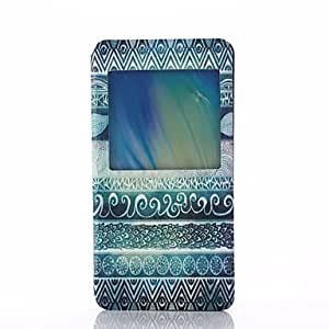SHOUJIKE Green Folk Style Pattern PU Leater Open Window Stand Full Body Case for Samsung Galaxy A5