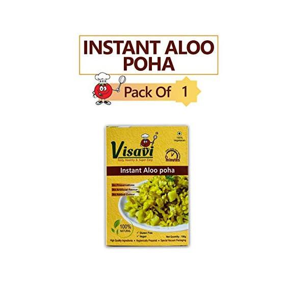 Visavi Food Ventures Tasty Healthy & Super Easy Aloo Poha Ready to Cook (100g)