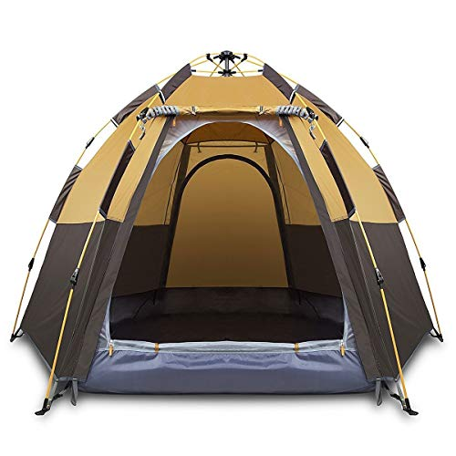 CGH-Camping-Tents-3-4-Person-Instant-Tent-Waterproof-Pop-up-Tent-Quick-Set-up-Family-Beach-Dome-Tent-UV-Protection-with-Carry-Bag