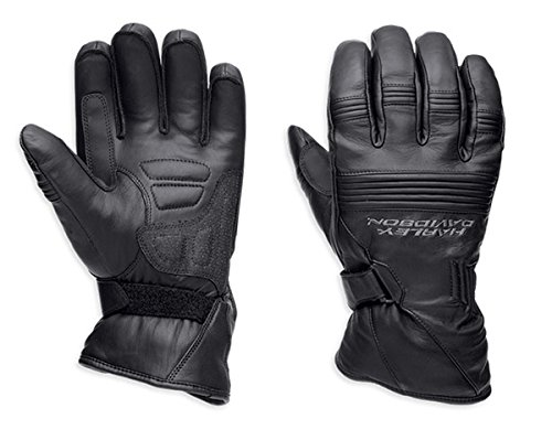 Harley Davidson Shell (Harley-Davidson Men's Generations Full-Finger Leather Gloves 98274-14VM Black Size 3XL)