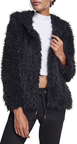 Donna Hooded Classics Teddy Giacca Nero 00007 Jacket Ladies Urban black SHvCExwqqd