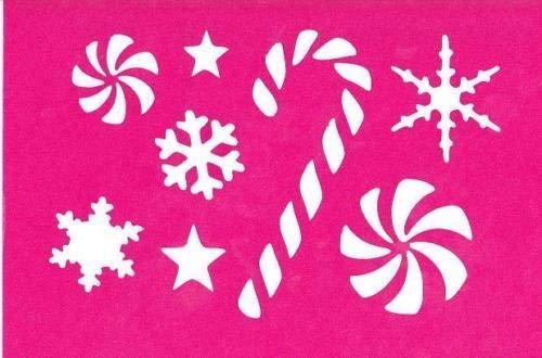 OutletBestSelling Stencil クリスマス キャンディケーン スノーフレーク ウィンタースター B07HFGPJVJ