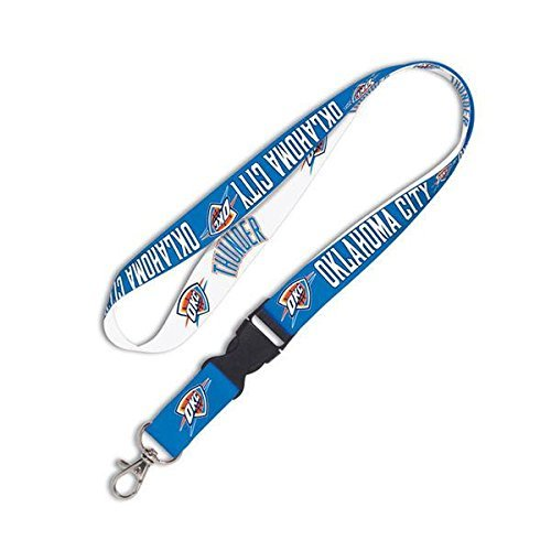 Oklahoma City Thunder WinCraft Wordmark Lanyard with Detachable Buckle by WinCraft