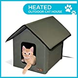 K&H Manufacturing Outdoor Kitty House, Unheated, Olive