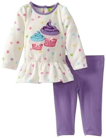 Watch Me Grow! by Sesame Street Baby-girls Newborn 2 Piece Dual Cupcake Dress and Legging, Purple, 3-6 Months
