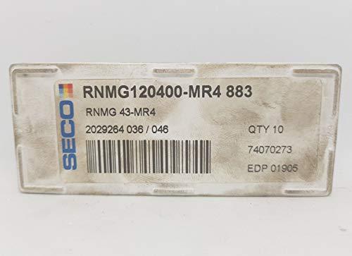 10 x Seco RNMG 120400-MR4 Hartmetalleinsätze 883 Frässpitzen #SB2