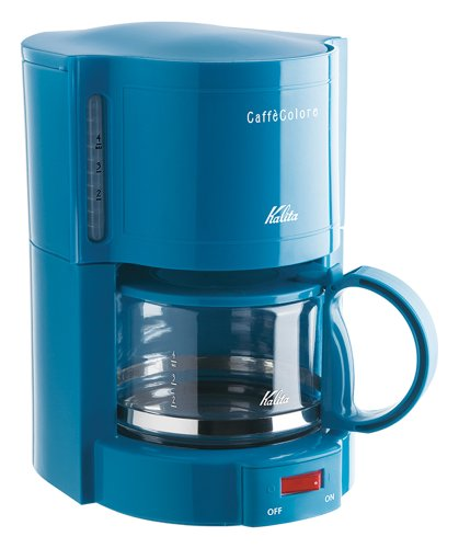 Kalita Coffee Maker Caffè Colore ( 4 Cups 102 Filter Paper Compatible) V-102 Blue #41119