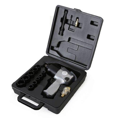 EBERTH 1//2 Zoll Druckluft Schlagschrauber mit Koffer und umfangreichem Zubeh/ör 576 Nm Drehmoment, 125 mm Verl/ängerung, Drehmomentregler, Rechts- und Linkslauf, Hochleistungs-Schlagwerk, 17-tlg.
