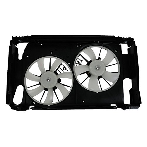 Radiator Fan Cyl 6 Cooling (Radiator AC Dual Cooling Fan Assembly for 06-12 Toyota RAV4 2.4 2.5 4 cyl)