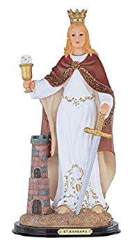 StealStreet SS-G-312.11 Saint Barbara Santa Holy Figurine Religious Decoration Decor, 12