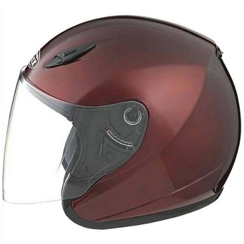 GMAX GM17 Unisex-Adult Open Face Motorcycle/Scooter Street Helmet (Wine Red, XXX-Large)