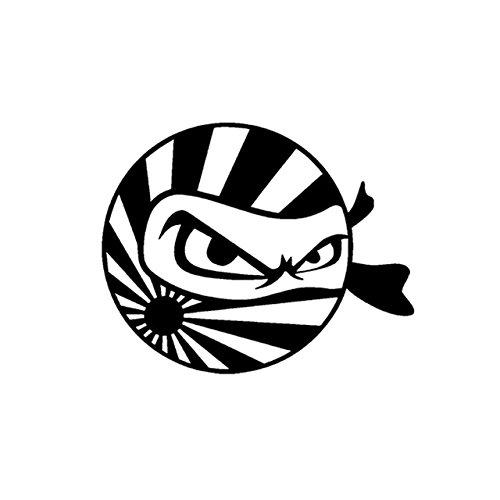 Amazon Com Ninja Rising Sun Flag Premium Decal 5 White