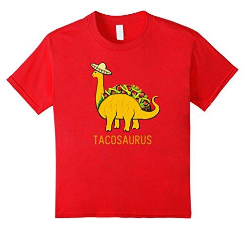 [Kids Tacosaurus Cinco de Mayo Shirt Women Boys Girls Funny Taco 8 Red] (Pun Costumes For Guys)
