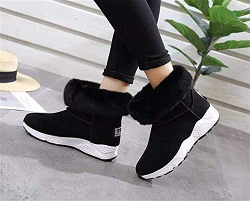 De Soft Chaleur Students' Pure Épaississement Bottom Femmes Chaussures 's Eu Ponçage 35 Sed D'hiver Boots Couleur YgPqxfU