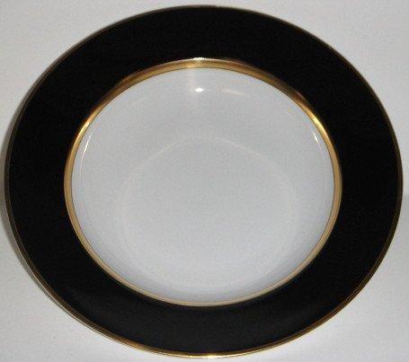 Fitz & Floyd Renaissance Black On White Rim Soup Bowl ()