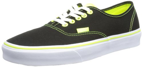 Neon Pop Low Yellow Neon Top Vans Authentic Black Sneakers Slim Unisex Adults' Ug8wU4xTqv