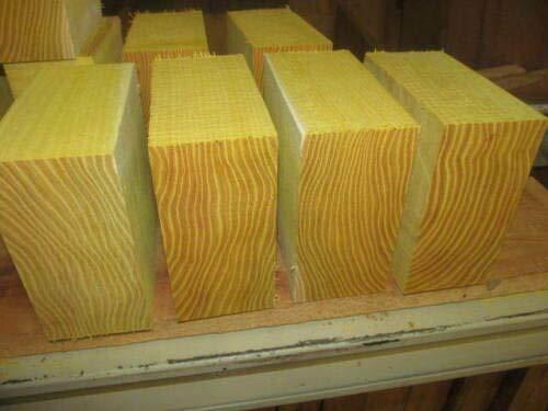 (Osage Orange Lathe Turning Exotic Wood Bowl Blanks Blocks, 6 X 6 X 3, Set of 24)