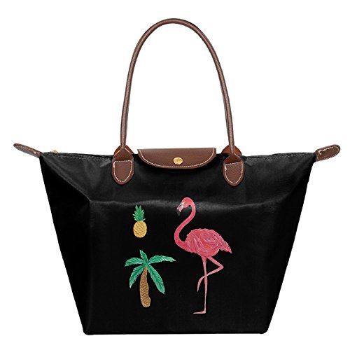 OUDE Flamingo Pineapple Palm Tree Fashion Ladies Folding Dumpling - Mall Garden Palm