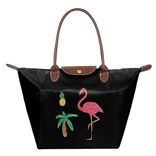 OUDE Flamingo Pineapple Palm Tree Fashion Ladies Folding Dumpling - Mall West Palm Gardens
