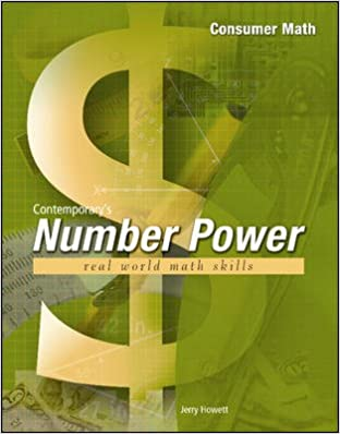 Number Power: Financial Literacy: Number Power Consumer Math ...