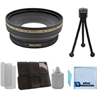 Pro Series 72mm 0.43x Wide Angle Lens with Deluxe Lens Accessories Kit for all Canon / Nikon / Pentax Cameras & Camcorders with 72MM Lens thread