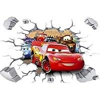 Kibi Cars 3D stickers Cars Muursticker Cars 3 Wandsticker Cars Disney Muursticker Cars Kinderkamer Decoratie, Afneembare…