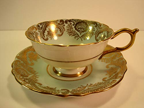 Bone China Paragon (Paragon By Appointment to HM the Queen & HM Queen Mary (numbered A409/1) Antique Teacup & Saucer, Gold Gilding)