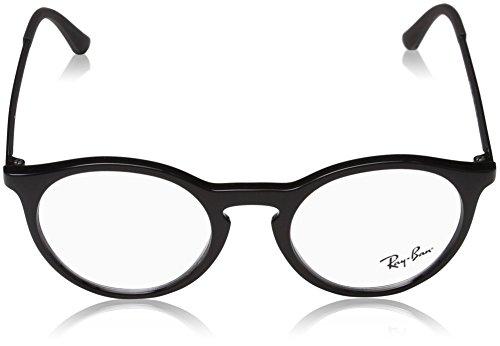 Para Monturas 0rx ban Shiny Ray 50 Gafas Hombre 7132 Black De 2000 qUagg8Awx