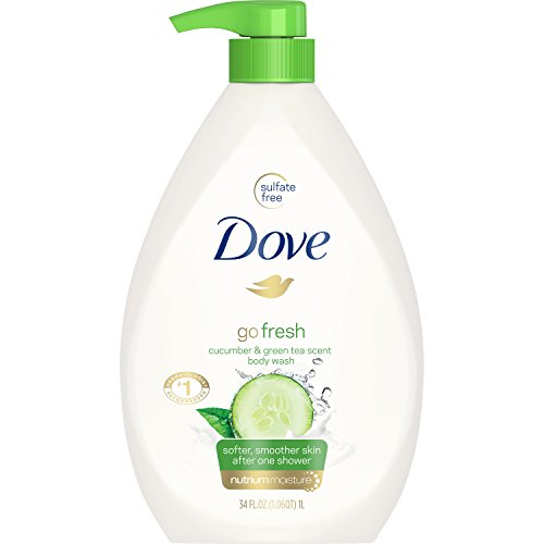 - Dove go fresh Body Wash Pump, Cucumber and Green Tea, 34 oz