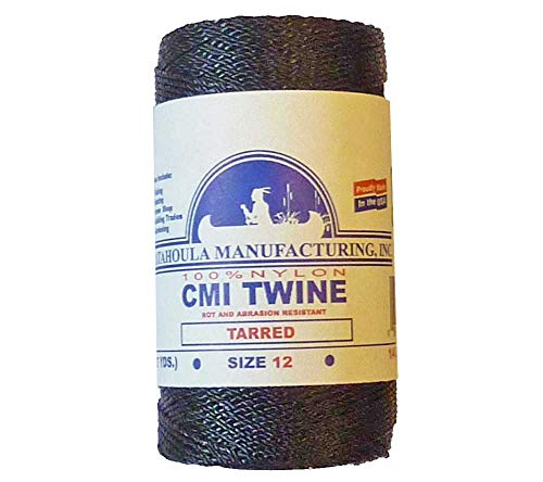 - Catahoula Manufacturing #12 Tarred Twisted Nylon Twine (Bank Line) 395'', One Size, Black