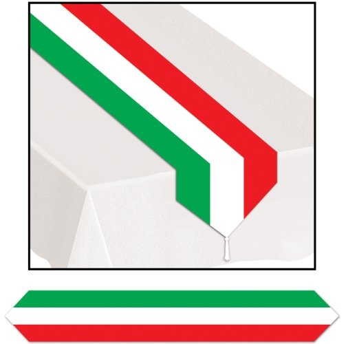 Italian Runner - Printed Red, White & Green Table Runner Party Accessory (1 count) (1/Pkg)