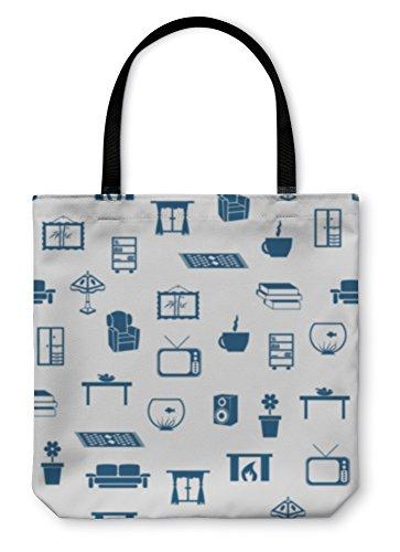 Gear New Shoulder Tote Hand Bag, Living Room Pattern, 18x18, 3707984GN