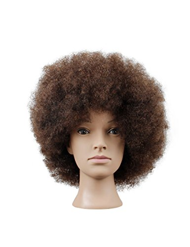 Search : Mannequin Head African American with 100% Human Hair Cosmetology Afro Hair Manikin Head for Practice Styling Braiding