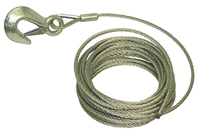 Invincible Marine Trailer Winch Cable, 3/16-Inches by 25-Feet