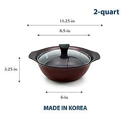 TeChef - Art Pan Collection / Soup Pot With Glass Lid, (2-quart)